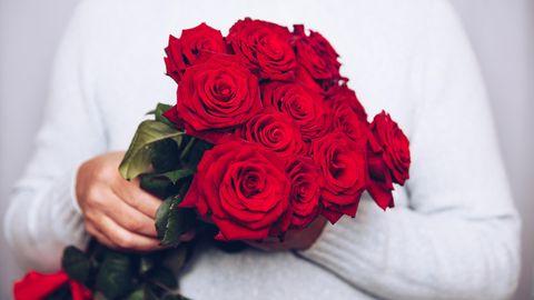 Blumengelten als Klassiker zum Valentinstag.