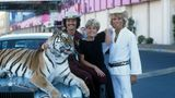 Siegfried und Roy, hier mit Gitte 1978, treten in ihren Shows mit Tigern auf und begründen damit ein neues Genre der Showunterhaltung. Genau das, was Las Vegas Ende der 1970er Jahre braucht. Die Stadt will weg von ihrem Spielerimage und dem alten Strip. Die Zukunft soll Unterhaltung für die ganze Familie sein. Da Siegfried und Roy statt auf leicht bekleidete Damen auf Tiere setzen, sind sie für die Casinomanager ein Volltreffer.