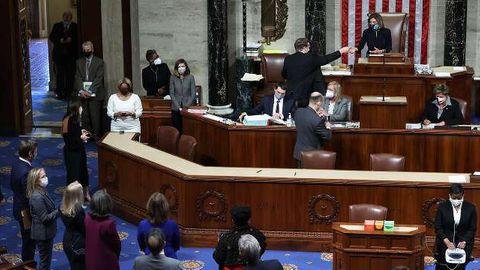 Die Abstimmung von 232-197 für ein Amtsenthebungsverfahren vom Präsident Donald Trump.