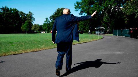 Auf dem Weg nach draußen:US-Präsident Donald Trump (Archivbild)