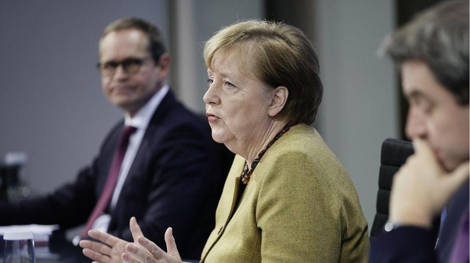 Müller, Merkel, Söder