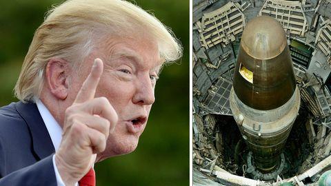 Donald Trump und eine Titan II-Nuklearrakete