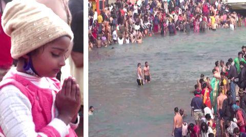 Verstörende Bilder aus Indien: Tausende Hindus pilgern zum Ganges – trotz Corona