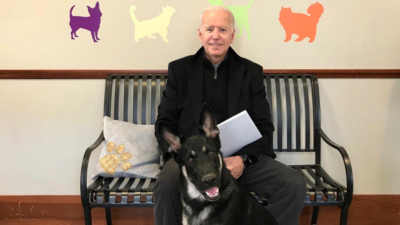 Joe Biden und sein Hund Major