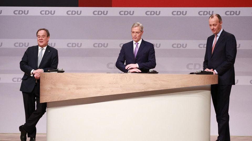 Von links: Armin Laschet, Norbert Röttgen und Friedrich Merz – die Kandidaten um den CDU-Parteivorsitz