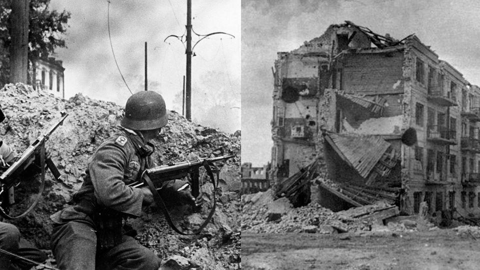 Deutsche Truppen in Stalingrad, Pawlows Haus nach der Schlacht