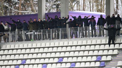 Zuschauer im Stadion von Aue