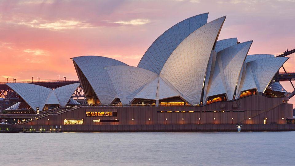 Wahrzeichen von Sydney: das Opernhaus
