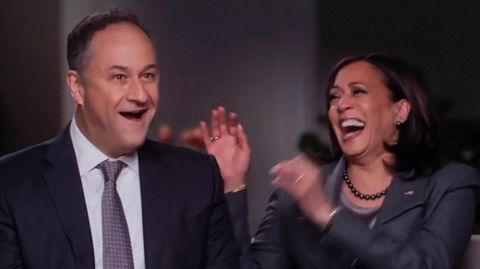 Die künftige US-Vizepräsidentin Kamala Harris und ihr Ehemann Doug Emhoff in der Sendung''CBS Sunday Morning''