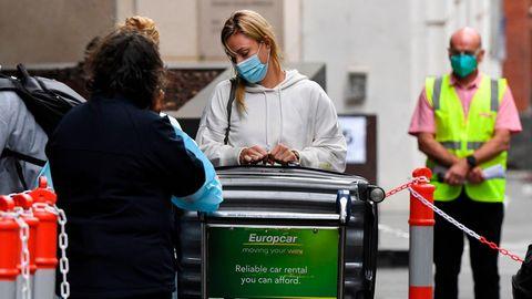 Angelique Kerber am Flughafen in Melbourne