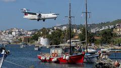Sky Express bedient Skiathos mit ATR 72-500 ab ihrer wichtigsten Basis in Athen – im Sommer täglich, im aktuellen Winterflugplan einmal pro Woche.