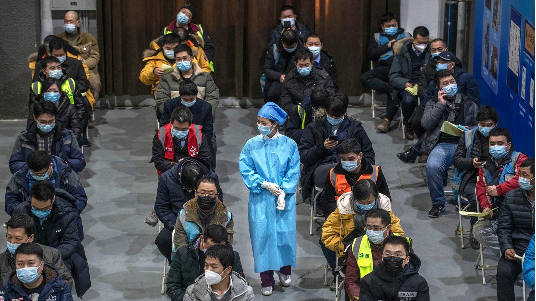 Impfschlange in Peking