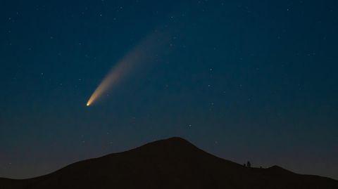 Ein Meteorit am Himmel