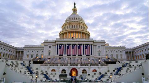 USA, Washington: Vor dem Kapitol