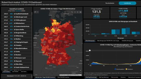Coronavirus-Dashboard des Robert-Koch-Instituts