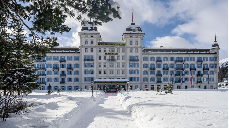 Unter Quarantäne: die Gäste desGrand Hotel des Bains Kempinski in St.Moritz
