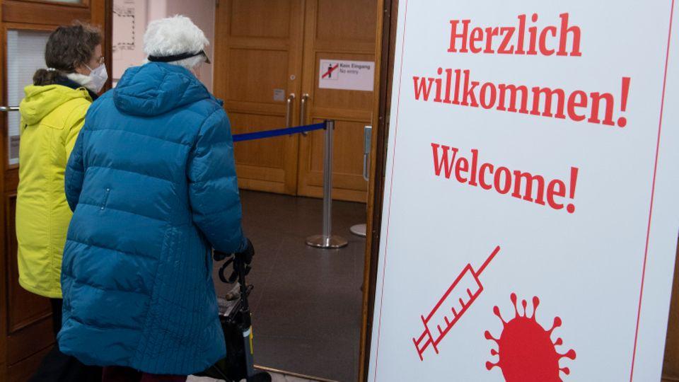 Impfzentrum in Frankfurt