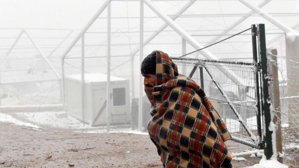 Bosnien-Herzegowina: Im Flüchtlingslager in Lipa herrschen bis zu minus 15 Grad.