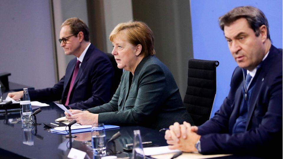 """Corona-Gipfel von Bund und Ländern: Pressekonferenz mit Angela Merkel live: """"Es ist hart, was wir den Menschen jetzt zumuten müssen"""""""