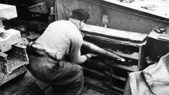 Die Kanoniere wurden nur durch 10 Millimeter starken Platten geschützt.