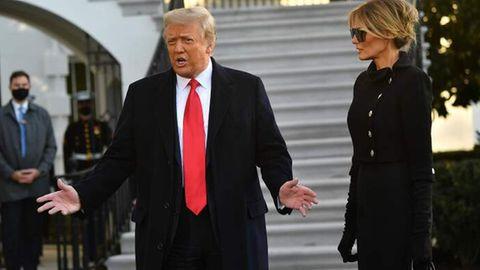 Die Trumps verlassen das Weiße Haus.