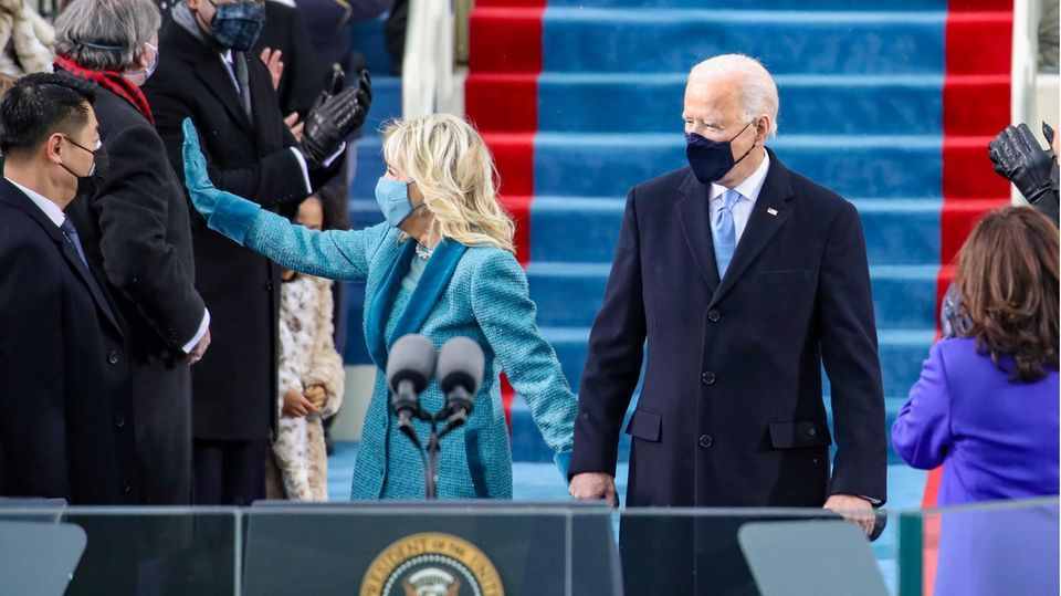 Die künftige First Lady Jill Biden und der gewählte US-Präsident Joe Biden