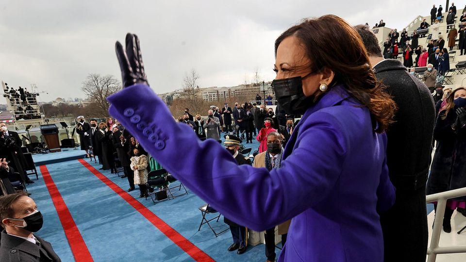 Kamala Harris als erste US-Vizepräsidentin vereidigt