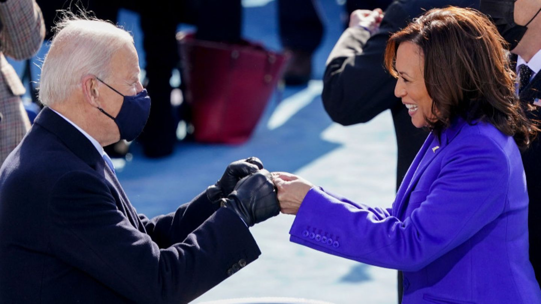 Das neue Dreamteam im Weißen Haus: Präsident Joe Biden (r.)und Vizepräsidentin Kamala Harris (l.)