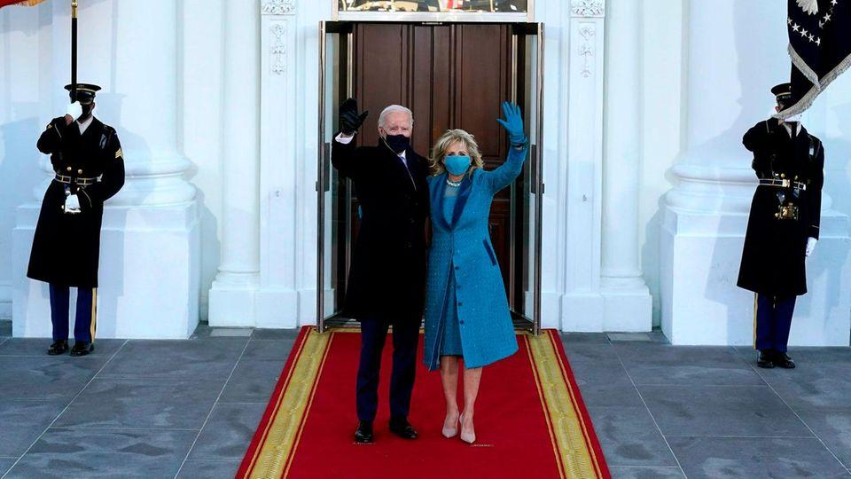 """Machtwechsel im Weißen Haus: So lief die Amtseinführung von Joe Biden - Merkel: """"Feier der amerikanischen Demokratie"""""""