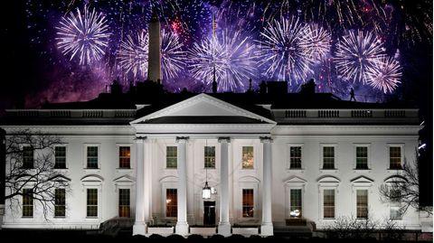 Feuerwerk über dem Weißen Haus zur Feier der Amtseinführung von Joe Biden