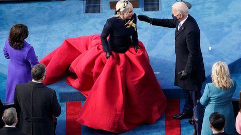 Lady Gaga bei der Amtseinführung von Joe Biden