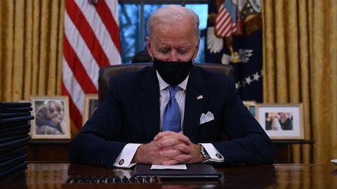 US-Präsident Joe Biden im Oval Office des Weißen Hauses in Washington