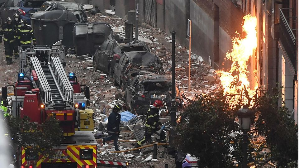 Explosion in Madrid