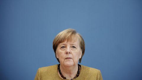 Angela Merkel bei der BPK