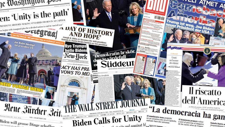 Zeitungsschlagzeilen