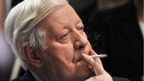 Helmut Schmidt war wohl der berühmteste deutsche Raucher