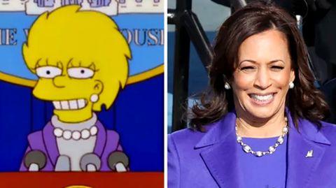 Lisa Simpson und US-Vizepräsidentin Kamala Harris