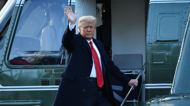 Winkt zum Abschied: der frühere US-Präsident Donald Trump