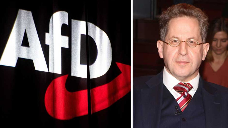 AfD-Logo; Hans-Georg Maaßen
