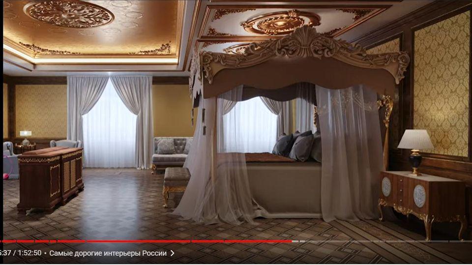 Das Hauptschlafzimmer des Putin-Palasts