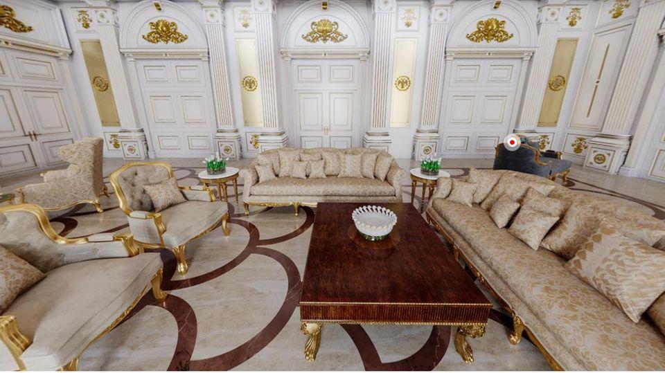 Das sogenannte Lesezimmer im Palast von Waldimir Putin