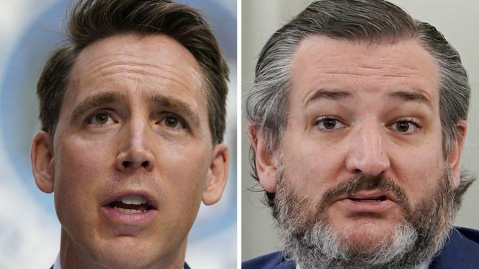 Die republikanischen Senatoren Josh Hawley und Ted Cruz