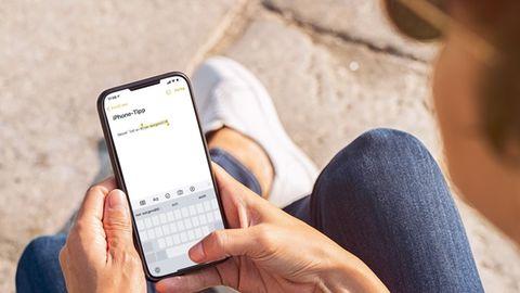 Über die Leertaste wird die Textauswahl beim iPhone einfacher