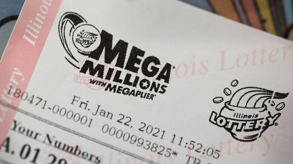 Ein Mega-Millions-Los von Freitag