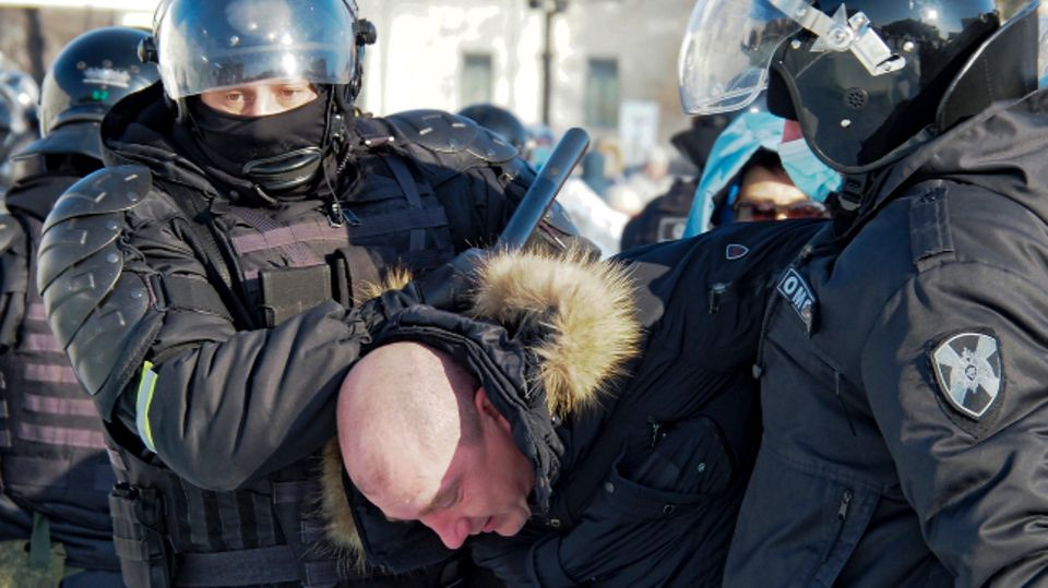 Festnahme bei Pro-Nawalny-Demo
