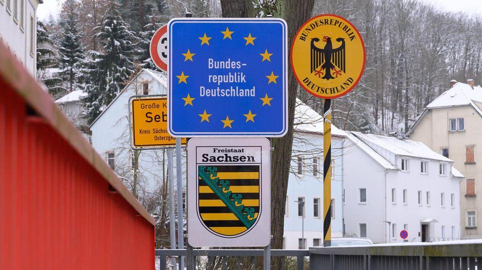 KaumVerkehr herrscht an der deutsch-tschechischen Grenze