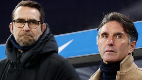 Ihr Aus bei Hertha BSCBerlin ist besiegelt:Trainer Bruno Labbadia (r.) und Manager Michael Preetz