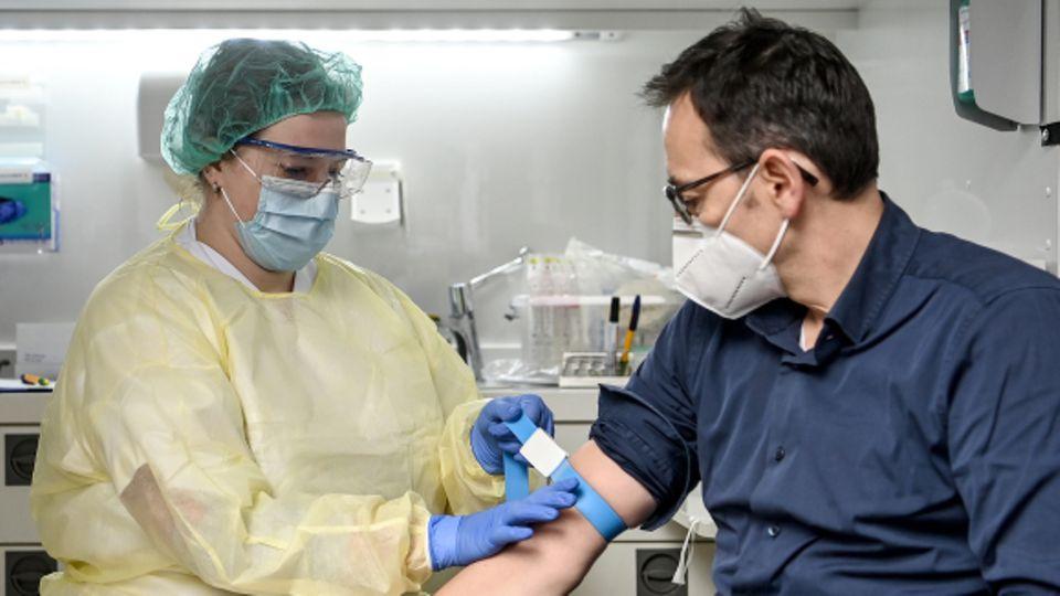 Blutabnahme für Antikörper-Studie