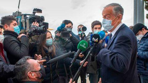 Wahlsieger laut ersten Prognosen: Portugals amtierender Präsident Marcelo Rebelo de Sousa
