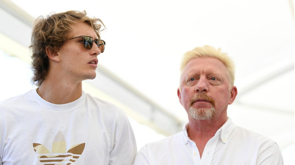 Alexander Zverev und Boris Becker